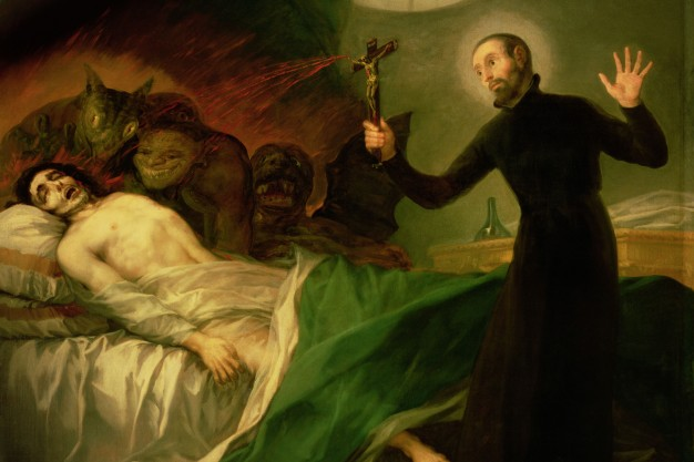 Image result for catholic priest exorcism